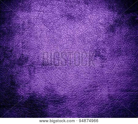 Grunge background of amethyst leather texture