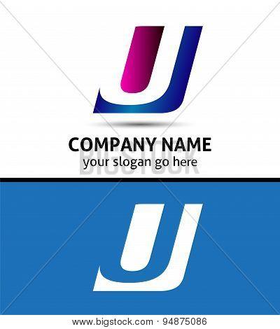 Alphabetical Logo Design Concepts. Letter U