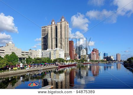 Beautiful View Of The Love River In Kaohsiung