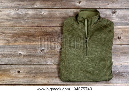 Shirt For Hiking On Rustic Wooden Boards