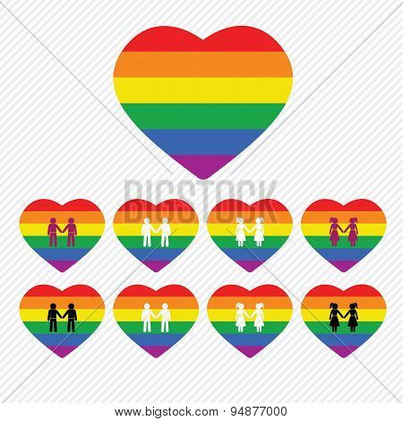 LGBT icons set. illustration vector eps 10