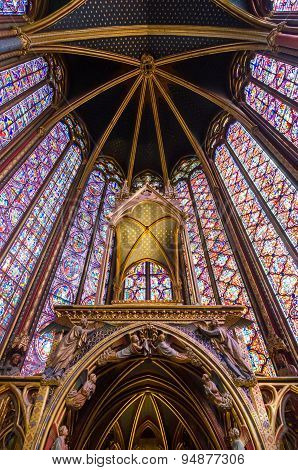 Interior Of The Sainte Chapelle