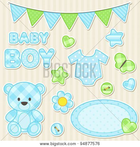 Scrapbook Elements For Boy