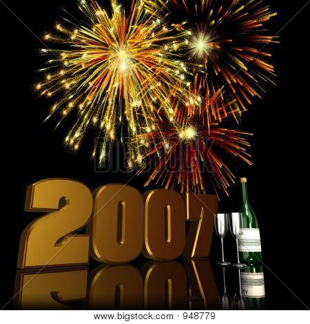 2007 Silvester Feuerwerk 2