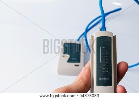 Network tester on white background
