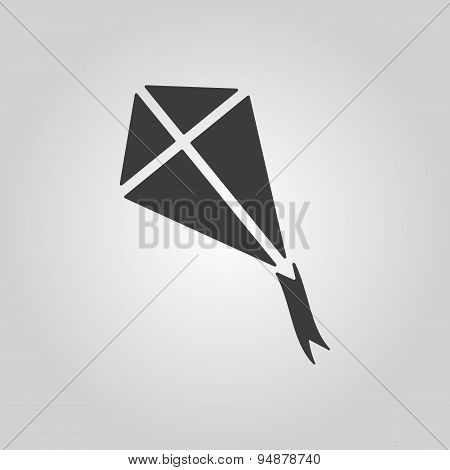 The Kite Icon. Kite Symbol. Flat