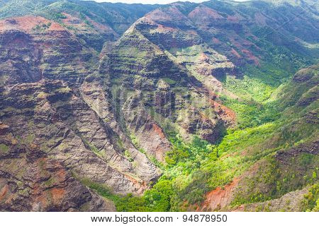 Waimea Canyon View From Above