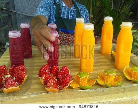 Vendor Selling Juice