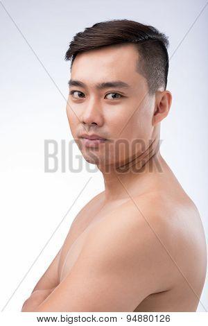Confident Asian Man