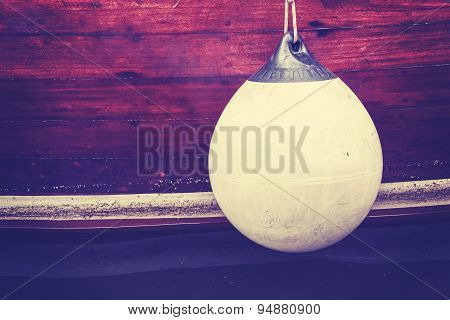 Rubber Buoy, Vintage Toned Concept Photo.