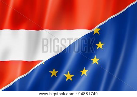 Austria And Europe Flag