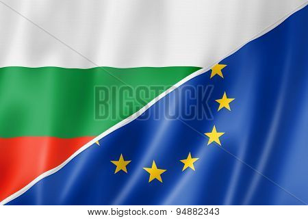 Bulgaria And Europe Flag