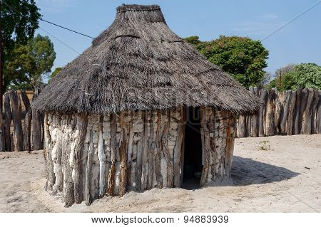 Traditional African Village With Houses