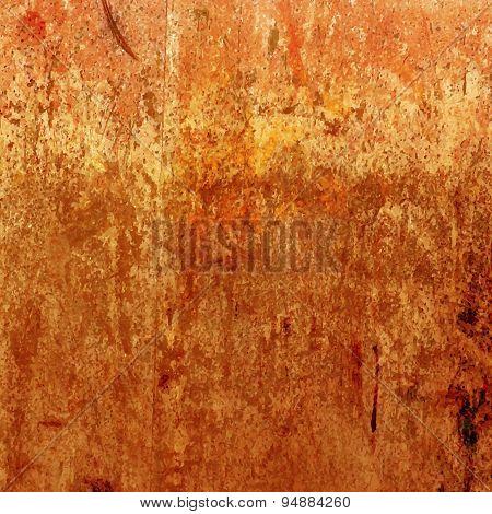Orange grunge background. Vector rusty texture.eps 10