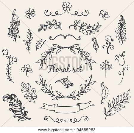 Doodle Nature Elements