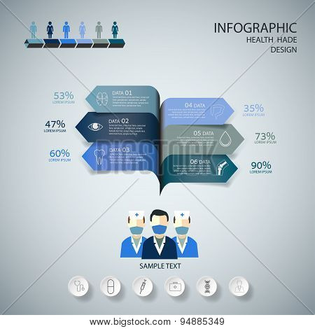 Medical Infographic Design Set.  Graphic Or Website Layout Vector.