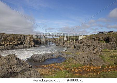 Ring Road Bridge Over Skjalfandafljot River