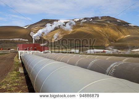 Krafla Geothermal Power Station's Pipes