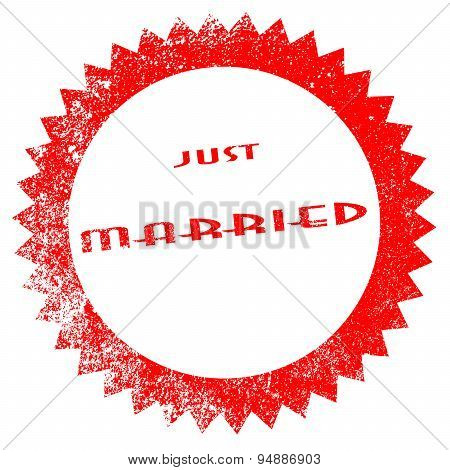 Just Married Ink Stamp