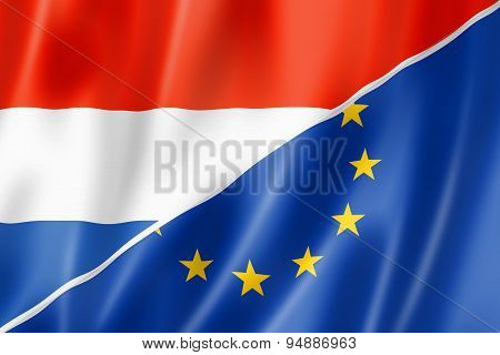 Netherlands And Europe Flag