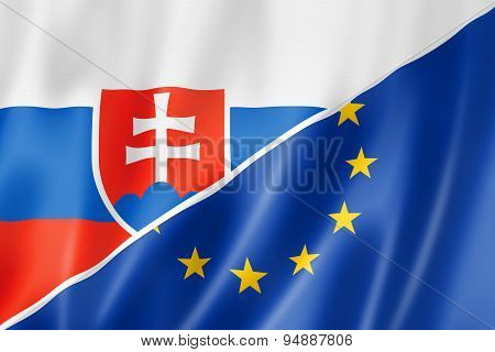 Slovakia And Europe Flag