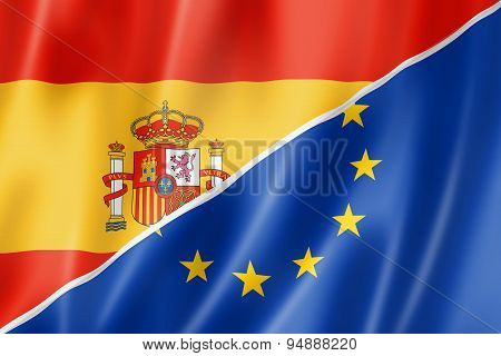 Spain And Europe Flag