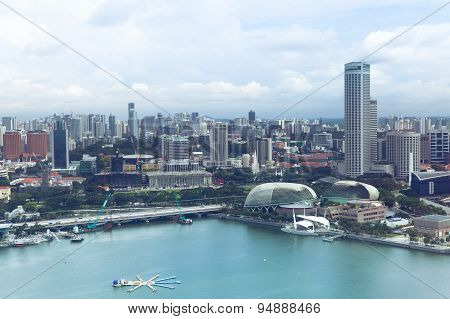 Singapore skyline in the daytime
