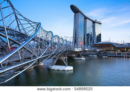 Marina Bay at sunset, Singapore