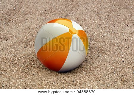 Beachball In The Sand