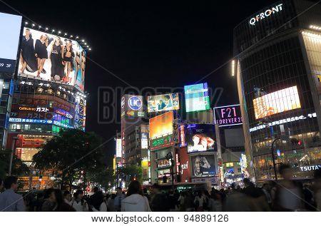 Shibuya night Tokyo Japan