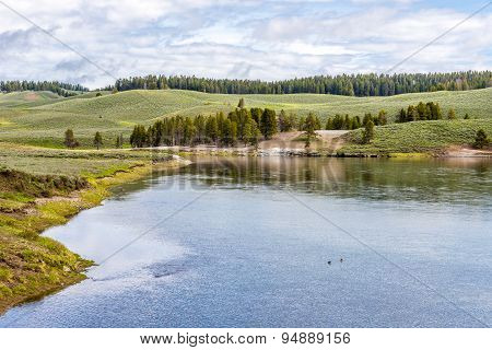 View At The Nature In Yellowstone N.p.