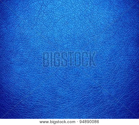 Dodger blue leather texture background