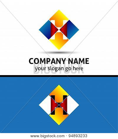 Letter H logo icon template