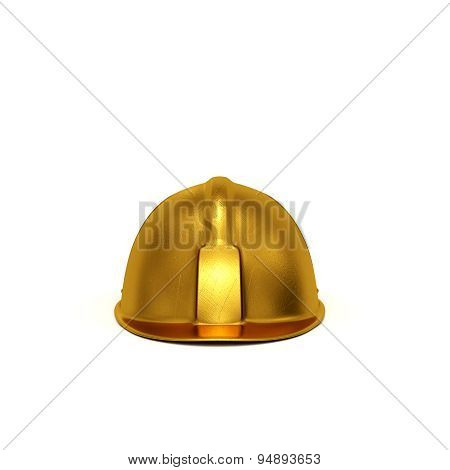 Golden Constructing Helmet Front View