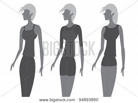 Lady Chic Fashion Vector Illustration