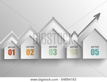 real estate - a concept abstract infographics