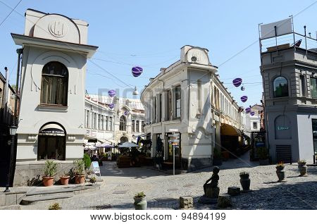 Jan Sharden and Bambis Rigii streets in old Tbilisi, Georgia.It's very popular tourist attraction