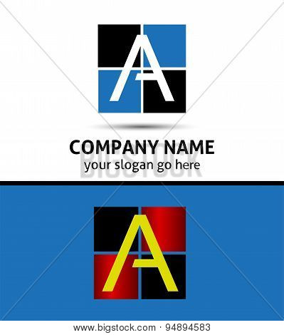 Icon logo for letter A