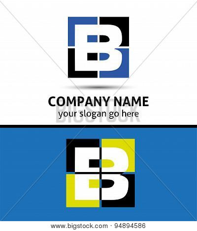 Abstract icon logo for letter B