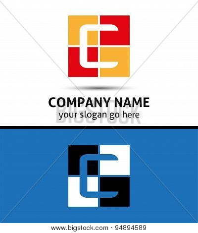 Abstract icon logo for letter C template