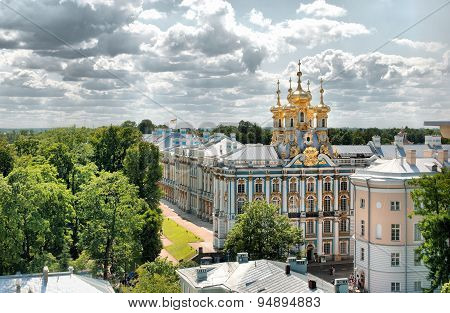 Tsarskoye Selo (Pushkin). Saint-Petersburg, Russia. The Catherine Palace