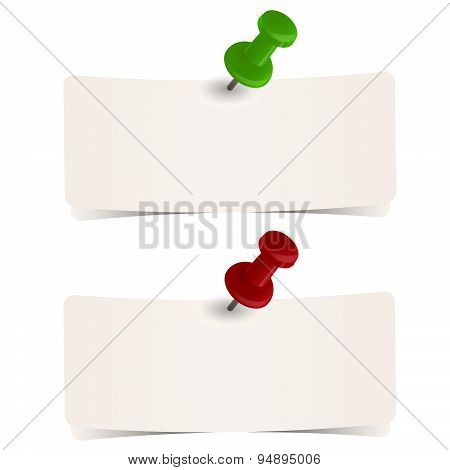 Little Papers With Pins
