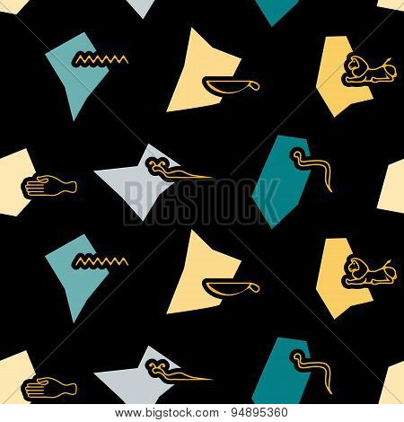 Seamless background with Egyptian hieroglyphs
