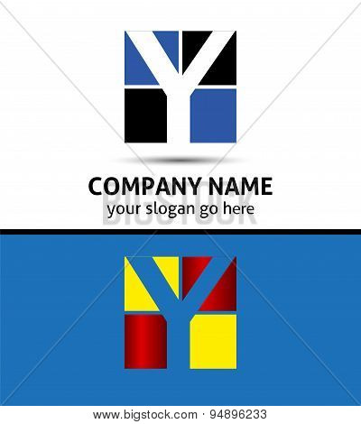 Letter Y logo symbol design template elements