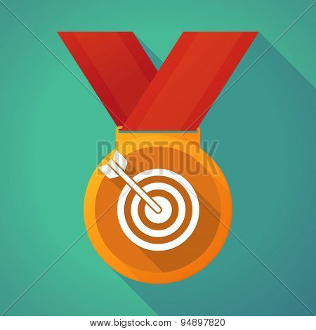 Long Shadow Medal With A Dart Board