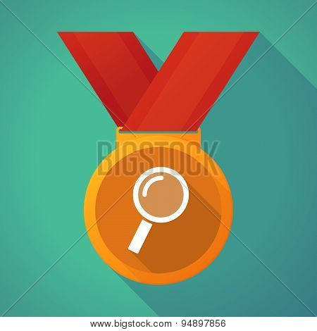 Long Shadow Medal With A Magnifier