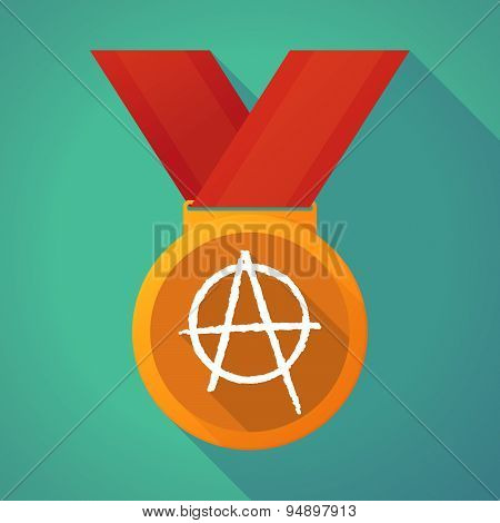 Long Shadow Medal With An Anarchy Sign