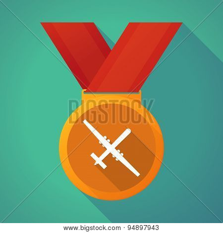 Long Shadow Medal With A War Drone