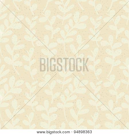 Grunge Floral Background. Vector Texture Background. Floral Pattern.