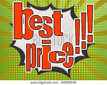 Best Price Comic Speech Bubble